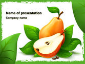 Food & Beverage: Pear Free PowerPoint Template #05020