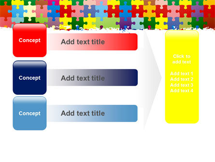 Colorful Puzzle Canvas PowerPoint Template Slide 12