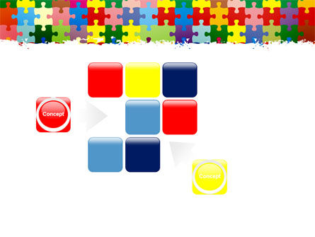Colorful Puzzle Canvas PowerPoint Template Slide 16