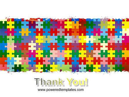Colorful Puzzle Canvas PowerPoint Template Slide 20