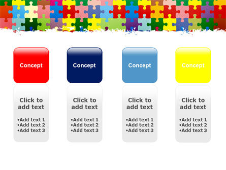 Colorful Puzzle Canvas PowerPoint Template Slide 5