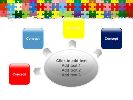 Colorful Puzzle Canvas PowerPoint Template Slide 7