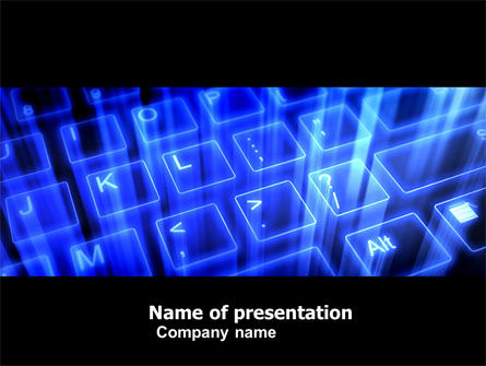 Technology and Science: Virtual Keyboard PowerPoint Template #05023