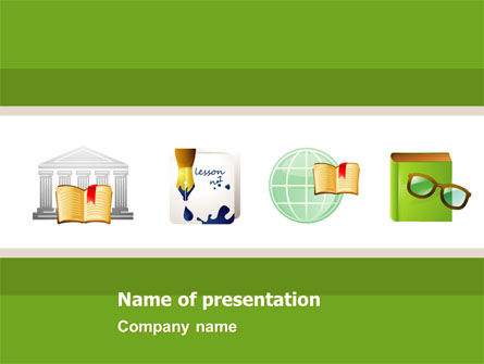 Secondary Education PowerPoint Template, 05024, Education & Training — PoweredTemplate.com