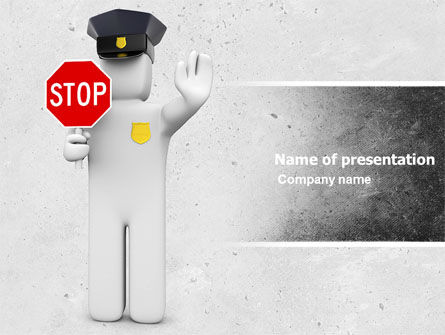 Traffic Police PowerPoint Template, 05026, Careers/Industry — PoweredTemplate.com