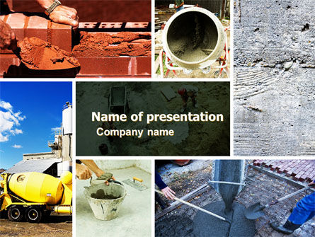 Cement PowerPoint Template, 05027, Careers/Industry — PoweredTemplate.com