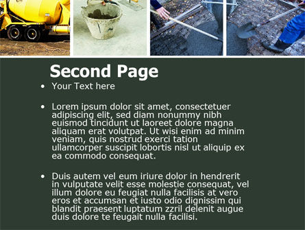 Cement PowerPoint Template Slide 2