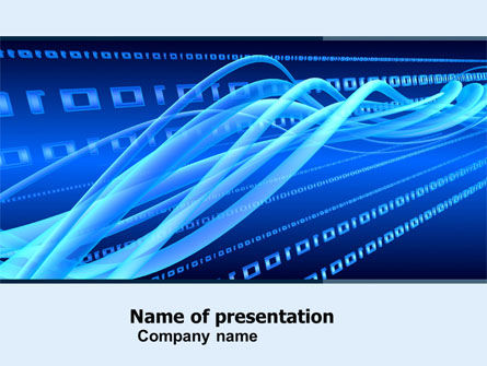 Wired PowerPoint Template, 05030, Technology and Science — PoweredTemplate.com