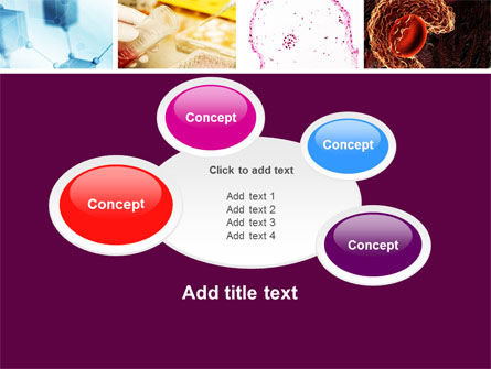 microbiology collage powerpoint template backgrounds 05032