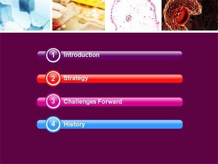 Microbiology Collage PowerPoint Template, Slide 3, 05032, Medical — PoweredTemplate.com