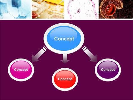 Microbiology Collage PowerPoint Template, Slide 4, 05032, Medical — PoweredTemplate.com