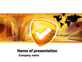 Technology and Science: Shield PowerPoint Template #05033