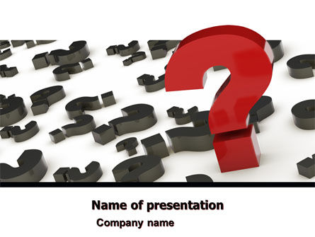 Consulting: Important Question PowerPoint Template #05035