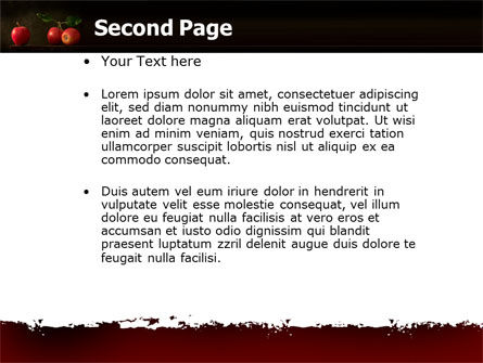 Red Apples PowerPoint Template Slide 2