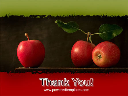 Red Apples PowerPoint Template Slide 20