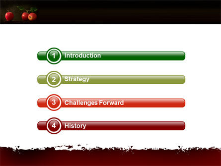 Red Apples PowerPoint Template, Slide 3, 05037, Agriculture — PoweredTemplate.com