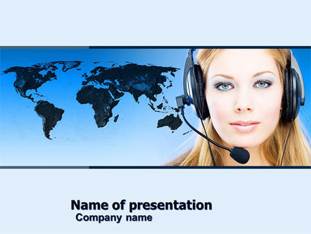 Telecommunication: Communication Service PowerPoint Template #05039