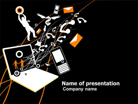 Telecommunication: Interaction PowerPoint Template #05041