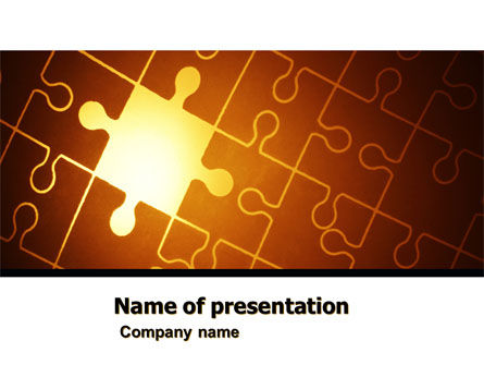 Business Concepts: Missing Puzzle PowerPoint Template #05042
