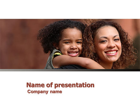 Mother and Daughter PowerPoint Template, 05043, People — PoweredTemplate.com