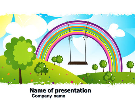 Childish Rainbow PowerPoint Template, 05045, Education & Training — PoweredTemplate.com