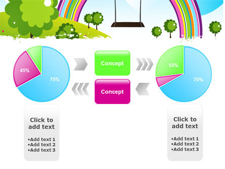 Childish Rainbow PowerPoint Template Slide 11