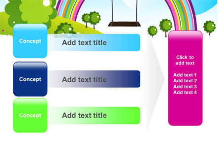 Childish Rainbow PowerPoint Template Slide 12
