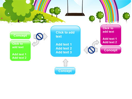 Childish Rainbow PowerPoint Template Slide 13