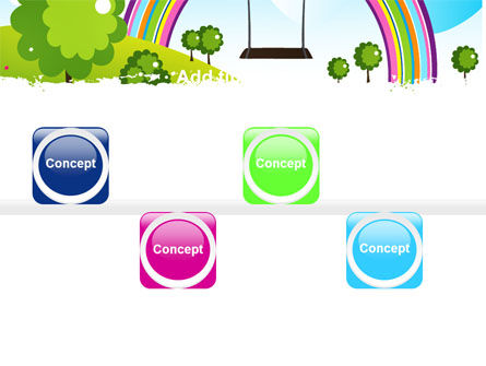 Childish Rainbow PowerPoint Template Slide 19