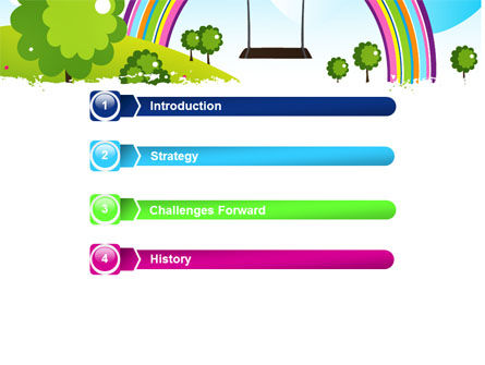 Childish Rainbow PowerPoint Template, Slide 3, 05045, Education & Training — PoweredTemplate.com