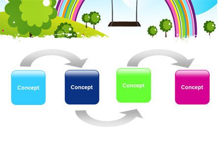 Childish Rainbow PowerPoint Template, Slide 4, 05045, Education & Training — PoweredTemplate.com