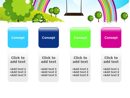 Childish Rainbow PowerPoint Template Slide 5