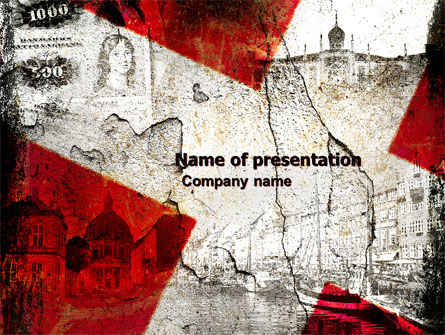 Denmark PowerPoint Template, 05046, Flags/International — PoweredTemplate.com
