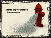 Careers/Industry: Fire Hydrant PowerPoint Template #05047