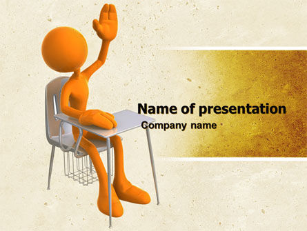 Lesson PowerPoint Template, 05049, Education & Training — PoweredTemplate.com