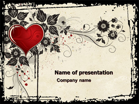Holiday/Special Occasion: Love Ornament PowerPoint Template #05050