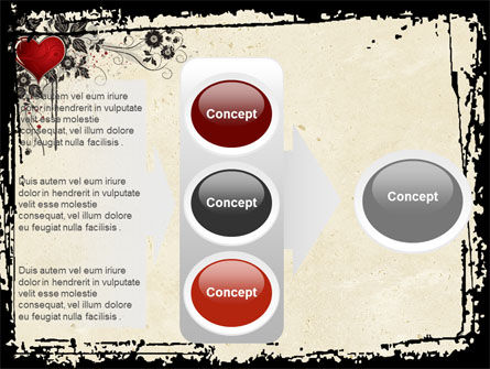 Love Ornament PowerPoint Template Slide 11