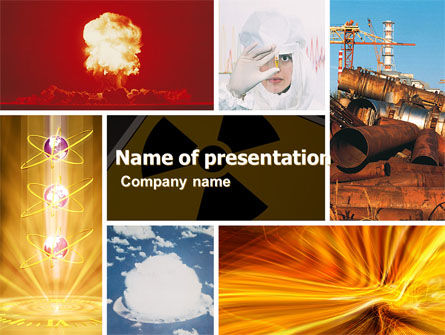 Radiation PowerPoint Template, 05051, Technology and Science — PoweredTemplate.com