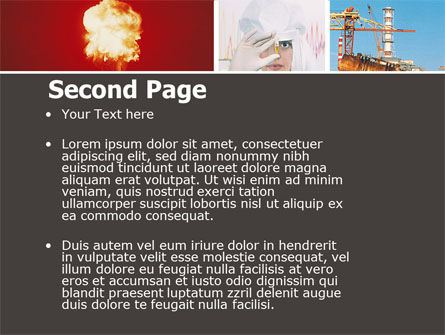 Radiation PowerPoint Template, Slide 2, 05051, Technology and Science — PoweredTemplate.com
