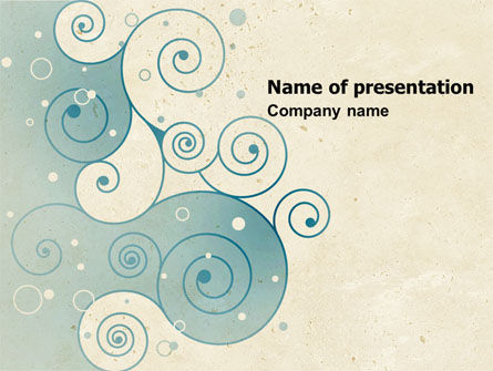 Abstract/Textures: Swirly Curls PowerPoint Template #05052