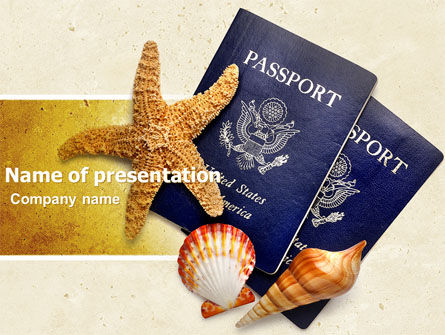 Traveling Abroad PowerPoint Template, 05053, Careers/Industry — PoweredTemplate.com