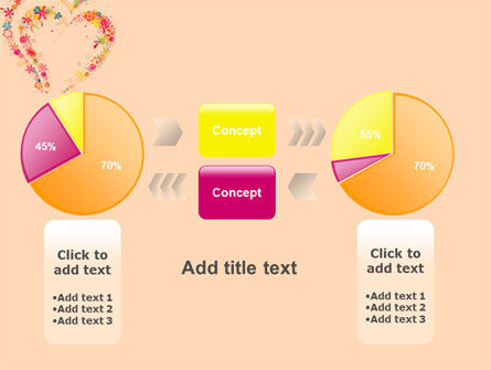 Blooming Heart PowerPoint Template Slide 16