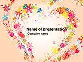 Holiday/Special Occasion: Plantilla de PowerPoint - corazón floreciente #05055