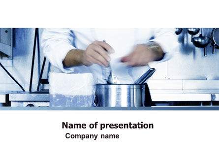 Careers/Industry: Cooking PowerPoint Template #05056