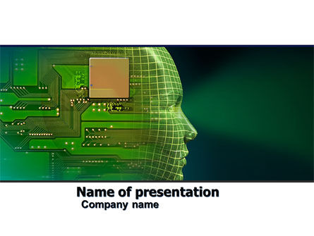 Technology and Science: High Tech Era PowerPoint Template #05057