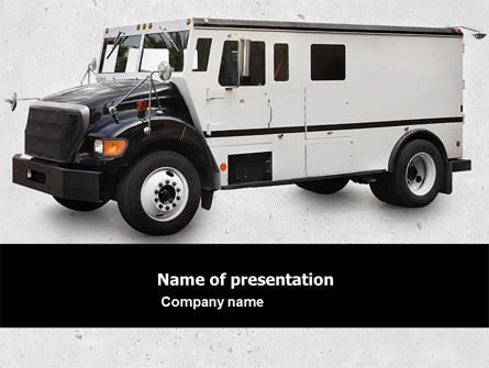 Armored Car Free PowerPoint Template, 05059, Careers/Industry — PoweredTemplate.com