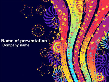 Abstract/Textures: Color Splash PowerPoint Template #05061
