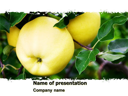 Yellow Apple PowerPoint Template