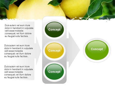 Yellow Apple PowerPoint Template Slide 11
