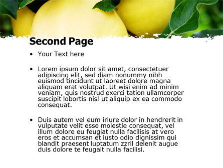 Yellow Apple PowerPoint Template Slide 2